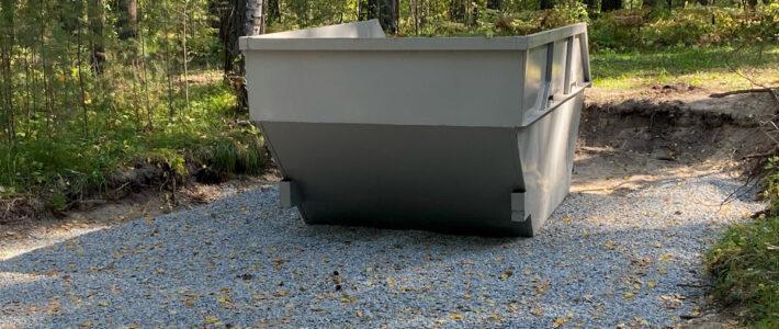 Организация мусорной площадки с бункером на 8м3